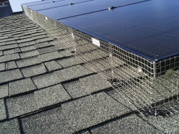 Solar Panel Guards on rooftops