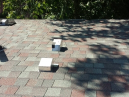 Roof Vent Guards on house