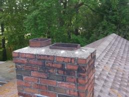 Chimney Cap Installation on roof